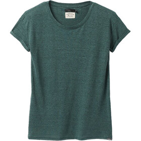 Prana Cozy Up Camiseta Manga Corta Mujer, peacock heather